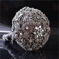 Классический Алмаз Драгоценными Букет Роскошный букет Серый Свадебный Букет Кристалл Диаманта bling Изукрашенный Свадебный Протяжка Букет A0011