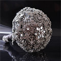 Clásico Diamante Jeweled Bouquet ramo de Lujo Gris Ramo de La Boda de Cristal Del Diamante de Bling Jeweled Nupcial Broche Ramo A0011