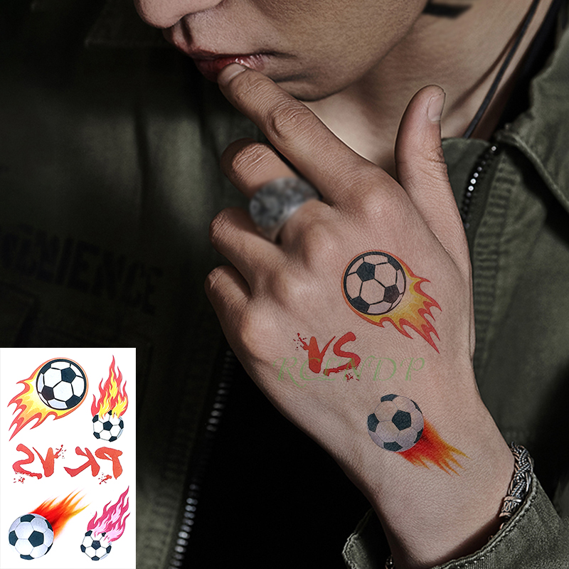 Us 049 Waterproof Temporary Tattoo Sticker Football Vs Letter Small Size Art Tatto Flash Tatoo Fake Tattoos For Kid Boy Men Women In Temporary