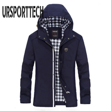 Spring Autumn New Brand Mens Jackets Men Casual Windbreaker Korean Version Long Coats Hooded And 5XL
