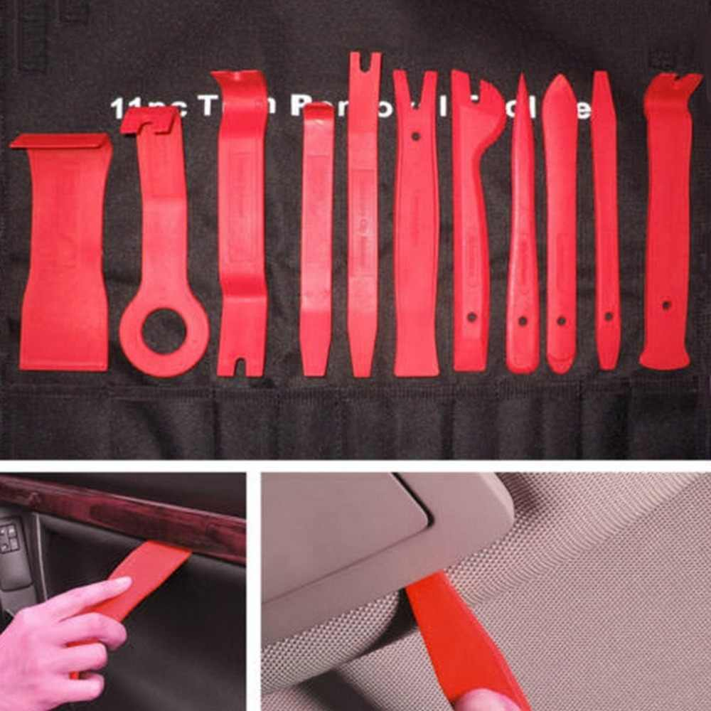11 Set Car CD Audio Red Disassembly Tool Set Of 11 Audio Tool Seesaw Interior Control Disassembly