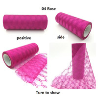 10 Yard X15cm Colorful Tissue Tulle Roll Spool Craft Wedding Party Decoration Table Runner Organza Gauze
