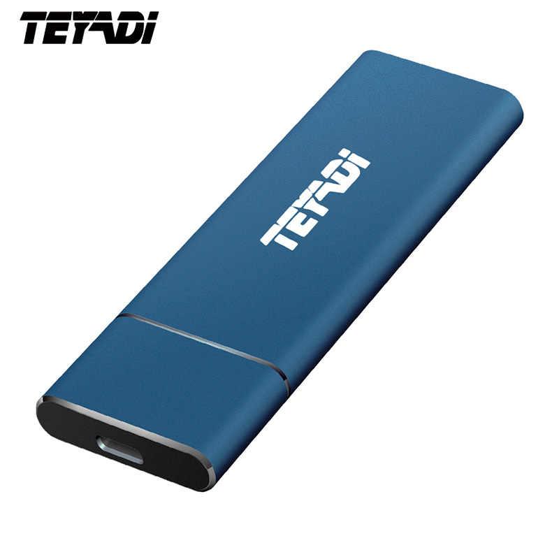 TEYADI E206 المحمولة محرك الحالة الصلبة 128GB 256GB SSD ، USB 3.1 الجنرال 2 الخارجية SSD ، m.2 رقاقة ، للهواتف الروبوت/PC/ماك/لينكس