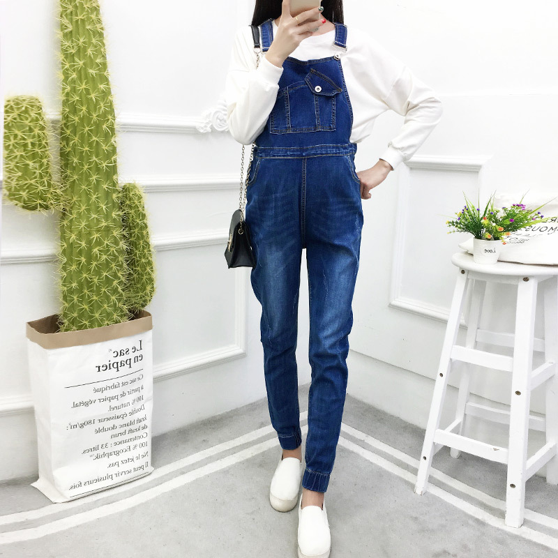 New Autumn Pregnant Women Jeans Rompers Maternity Work Clothes Ropa Para Embarazada Pregnacy Washed Jeans Jumpsuit Bodysuit vintage women jeans calca feminina 2017 fashion new denim jeans tie dye washed loose zipper fly women jeans wide leg pants woman