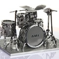 3D Simulation Drums Metal Puzzles Originality Cut Jigsaw Children DIY Educational Toys Adults Elegant Christmas Gifts TK0075