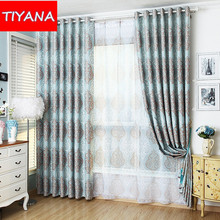European Style Window Curtains For Living Room Upscale Blinds Curtain For Bedroom Custom Made Curtains Fabric And Tulle AG143&3