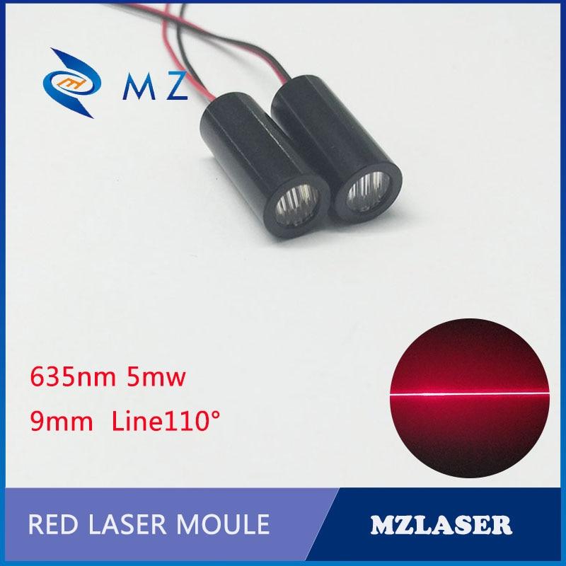 Line Laser Module 9mm 635nm5mw Red Line Laser Module Marking Laser