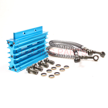 5 Colors Universal CNC Motorcycle Oil Cooler Kit Radiator Cooling For ATV Pit Dirt Bike motocross motocycle 50CC-125CC