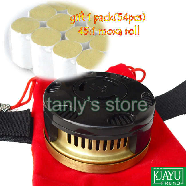 Wholesale & retail moxibustion device moxa box gift 54 pieces 45:1 moxa roll home health & beauty product