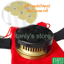 Good Quality! wholesale and retail (1 piece moxibustion device moxa box) + (108 pieces roll) health & beauty product