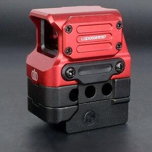 Image 5 - Оптический прицел DI FC1 с красной точкой, голографический прицел для рельсовой направляющей 20 мм (черный)