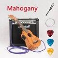 Concierto Soprano acústico eléctrico Ukelele 21 23 pulgadas Guitarra 4 cuerdas Ukelele Guitarra Handcraft guitarrista Mahogany Plug-in Uke
