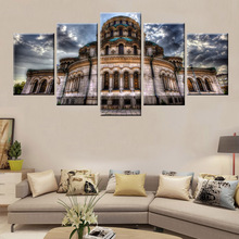 Modern HD Print 5 Panel Modular Cathedral Architecture Painting Poster Wall Artist Living Room Decorative
