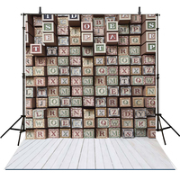 Letter Wall Fantasty Vinyl Backdrops for Photography 10x10ft Digital Photography Background for Wedding Photo Booth Prop
