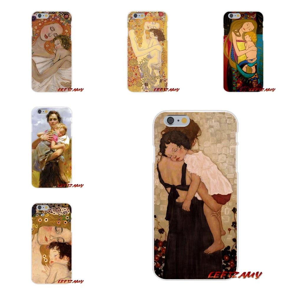 Климт Мать и дитя Книги по искусству Тонкий силиконовый чехол для телефона для samsung Galaxy S3 S4 S5 мини S6 S7 край S8 s9 плюс Примечание 2 3 4 5 8