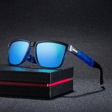 Design da marca Óculos Polarizados Homens Motorista Tons Masculinos Do Vintage Óculos De Sol Para Homens Espelho Spuare UV400 Verão Oculos de sol