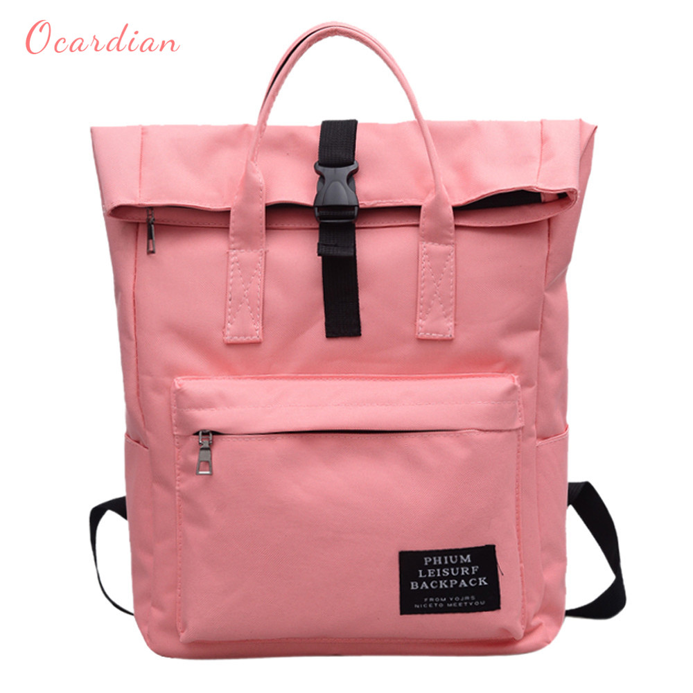 Ocardian Women Backpack Canvas Backpack Male Mochila Escolar Girls Laptop Backpack School Bags Backpack For Teens