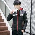 2016 nova moda de inverno homens jaqueta parkas roupas de qualidade Superior homens casuais jaqueta de inverno quente Grossa com capuz parkas