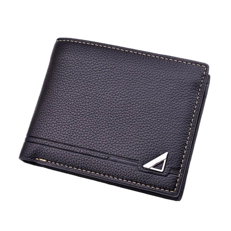 Männer brieftaschen kleine carteira dünne designer porte foto kurze leder brieftasche marke carteira pequena billetera hombre geldbörse portfel