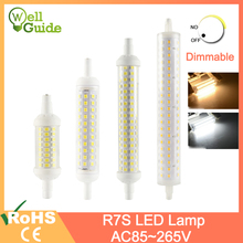 LED Lamp R7S Bulb 6w~15w Dimmable AC 220V 240 78mm 118mm 135mm Replace Spot Tube Halogen Light 50w 100w 150w 200w Floodlight cree dimmable 150w led high bay light meanwell driver replace 500w high pressure sodium lamp 150 watts led industrial bulb