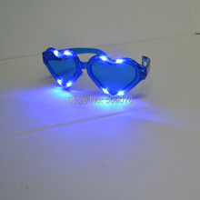 Free shipping 24pcs/lot 3mode led Extra large eyeglass heart-shaped glasses glowing for event & party supplies