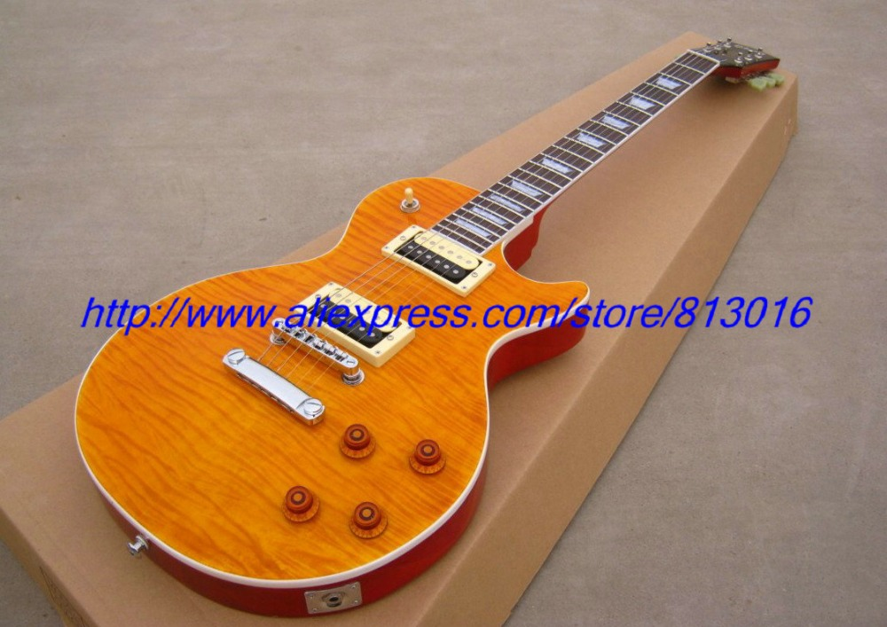 New! Slash yellow tiger maple veneer, mahogany body electric guitar ,zebra pickups,no pickguard,free shipping ebike battery 48v 15ah lithium ion battery pack 48v for samsung 30b cells built in 15a bms with 2a charger free shipping duty