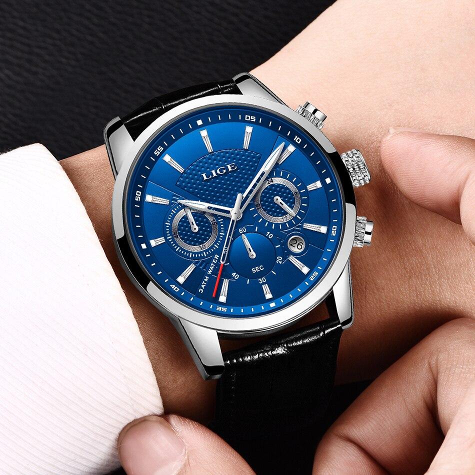 HTB1bfTPVkvoK1RjSZFwq6AiCFXau LIGE 2020 New Watch Men Fashion Sport Quartz Clock Mens Watches Brand Luxury Leather Business Waterproof Watch Relogio Masculino
