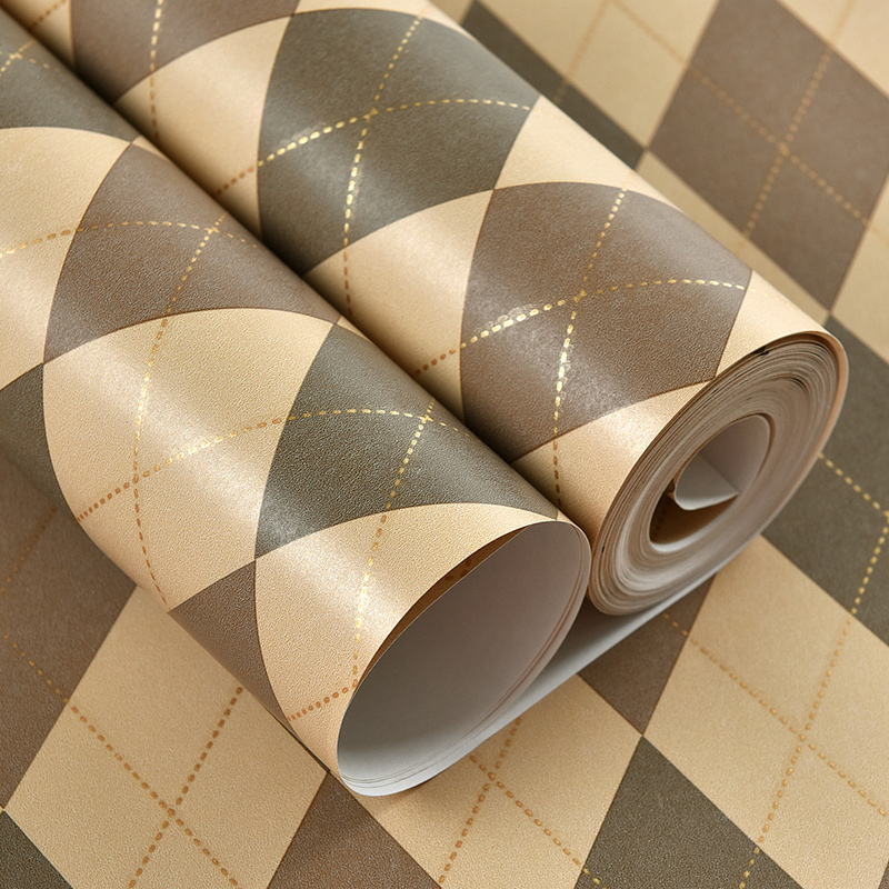 3D Wallpaper Modern Diamond Geometry Wall Paper Living Room Dining Room Home Improvement Background Non-Woven Wall Covering 3 D