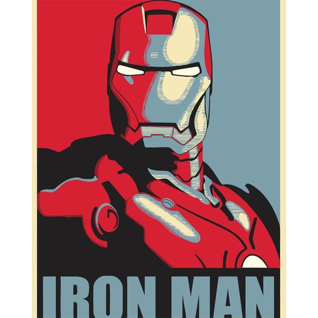 Diy Minyak Lukisan By Numbers Iron Man Gambar Digital Gambar