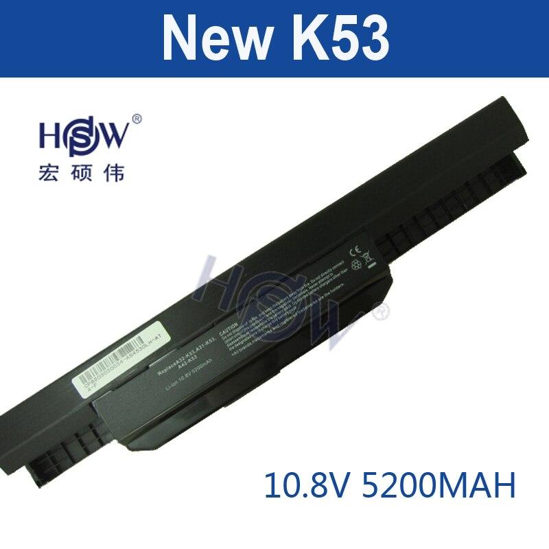 HSW 5200mAh Battery For Asus X54H X53U X53S X53SV X84 X54 X43 A43 A53 K43 K53U K53T K53SV K53S K53E k53J A53S A42-K53 A32-K53 wholesale new 9cells laptop battery for asus a43 a53 k43 k53 x43 a43b a53b k43b k53b x43b series a32 k53 a42 k53 free shipping
