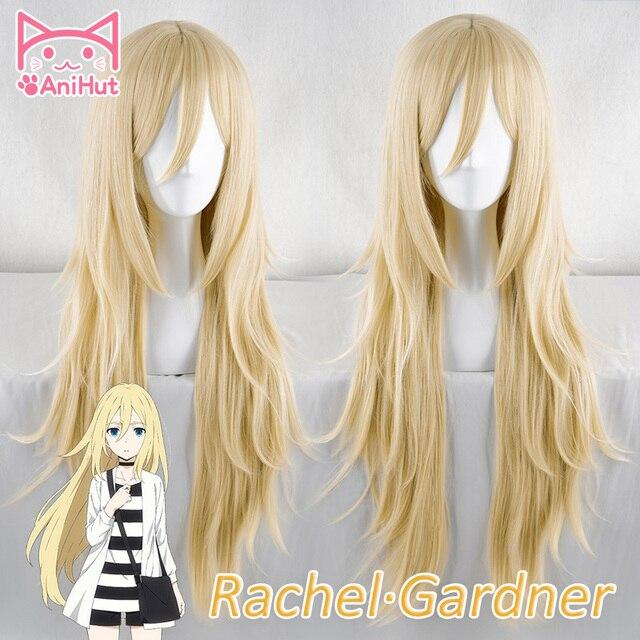 【AniHut】Rachel Gardner Wig Angels of Death Cosplay Wig  Synthetic Blonde Hair Ray Cosplay