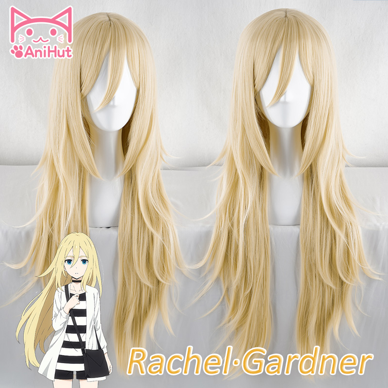 AniHut Rachel Gardner Wigs Anime Angels Of Death Cosplay Wig  Synthetic 90 CM Blonde Women Hair Ray Angels Of Death Cosplay Wig