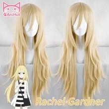 [Anihut】rachel Gardner парик ангелов смерти косплей парик синтетические светлые волосы Рей Косплей