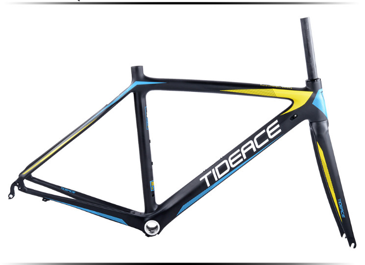 HTB1bfUEXZD85uJjSZFpq6xz3VXaS - 2017-2018 Tideace aero Cadre Route Frameset Made in China Carbon Fiber Road Bike Frame Bicycle Frame 50/53/55cm