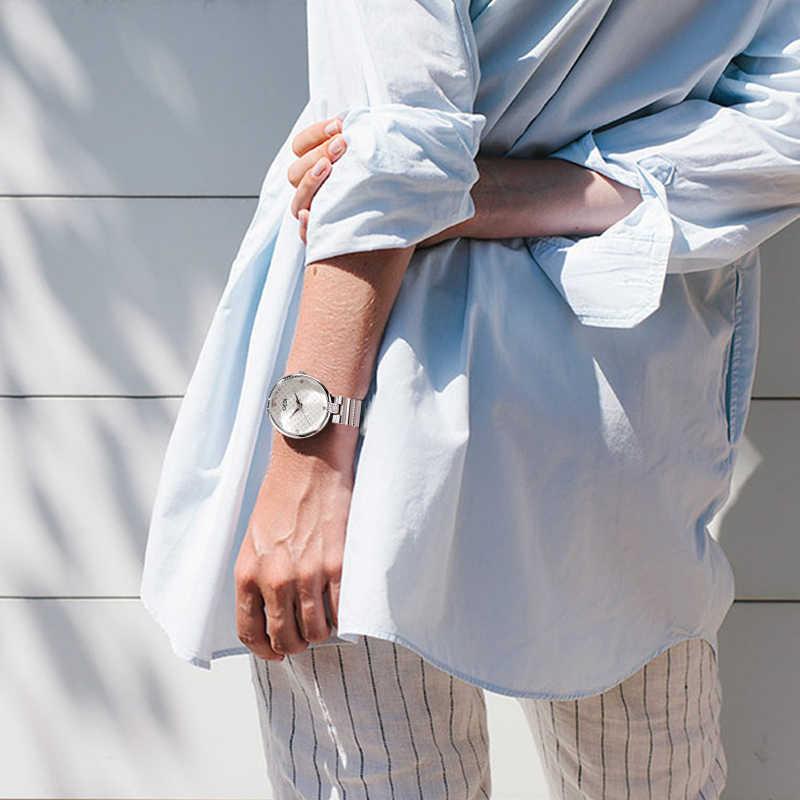 GEDI Wrist Watch Women Watches Luxury Brand Alloy Ladies Clock Quartz Women Watch 2019 Relogio Feminino Montre Femme Top Fashion