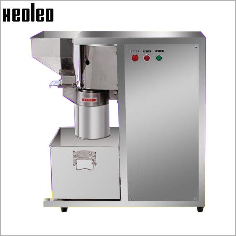 Xeoleo Medicine crusher Commercial Grinding machine Medicinal material hopper Sesams/Peanut/Seeds/walnut Grain Milling machine
