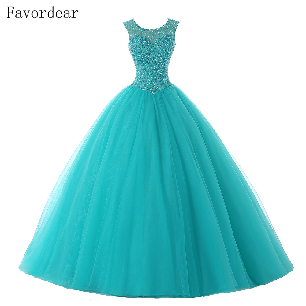 Favordear Quinceanera-Gowns Vestidos-De-15-Anos Sweetheart 15-Years Pink Red With Sashed