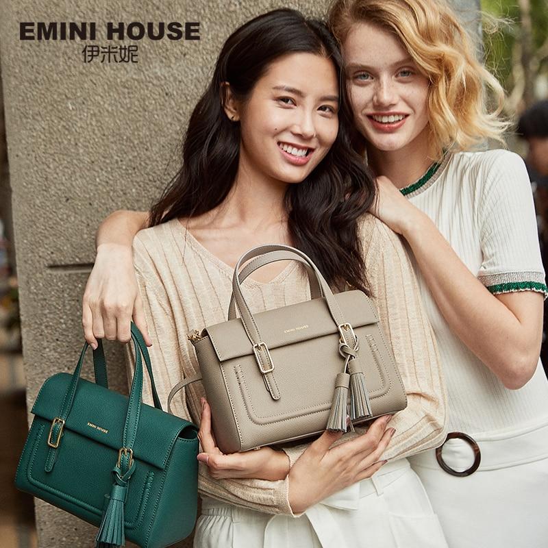 EMINI HOUSE Tassel Bags For Women 2018 Luxury Handbags Women Bags Designer Split Leather Crossbody Bags