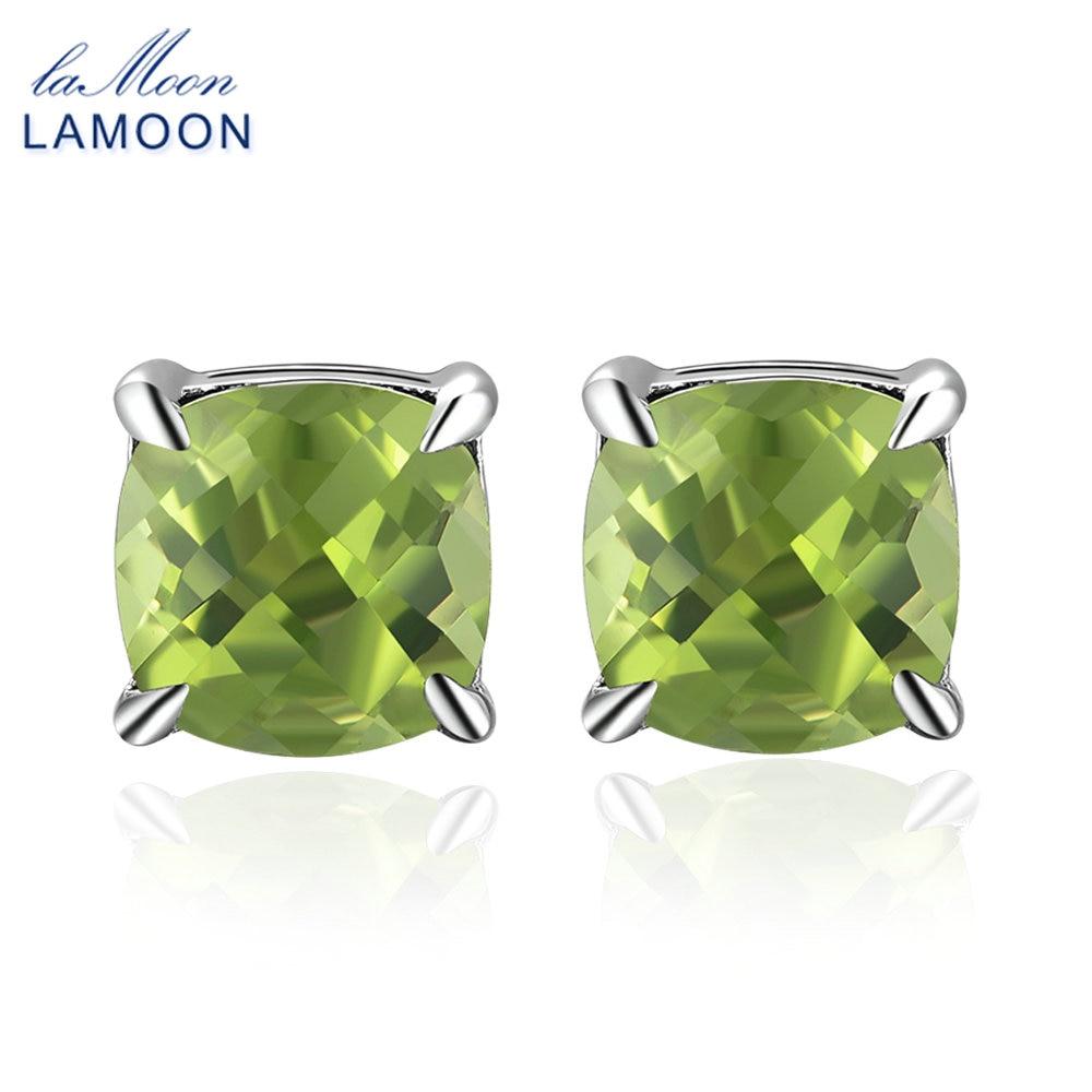 LAMOON 2.2 karet pusssnitt naturlige grønne peridot edelstener Små - Fine smykker