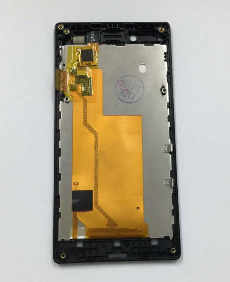 imágenes para Panel de la Pantalla LCD Monitor + Pantalla Táctil de Cristal Digitalizador negro Sensor Asamblea con Marco para Sony Xperia J ST26i ST26a ST26