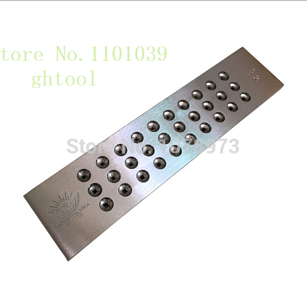Free Shipping 3.10-5.00mm Hole Size Tungsten Carbide Drawplate Jewelry Goldsmith Tools 20 Holes Square Shape Draw Plate jewelery jewelers draw plates 52 round hole steel draw plate goldsmith silversmith