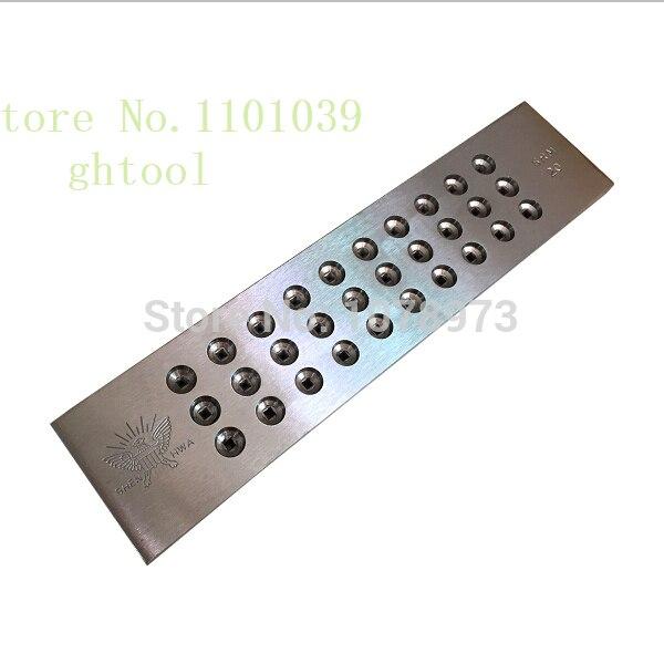 Livraison gratuite 3.10-5.00mm trou taille carbure de tungstène plaque de serrage bijoux orfèvrerie outils 20 trous forme carrée dessiner plaque bijoux