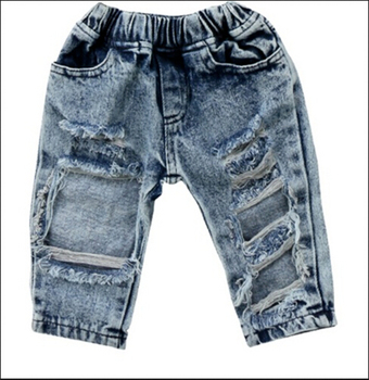 Newborn Infant Toddler Kids Baby Girls Fashion  Bog Hole Jeans Pants Outfits Clothing