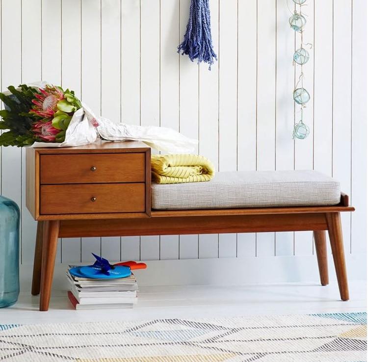 US $719.99 10% di SCONTO|Comodini Camera Da Letto comodino in legno  massello di rovere Mobili Mobili Per La Casa divano tavolo tavolino  stoccaggio ...