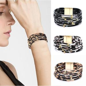 Women's Bracelet Leopard Leather Fashion