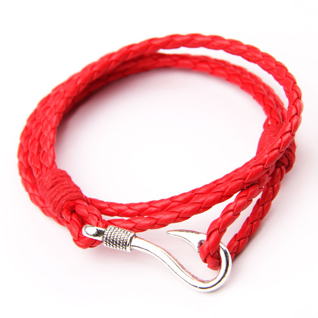NIUYITID 41cm PU Leather Bracelet For Men Women Fashion Wristband Charm Braclet For Male Accessories Jewelry