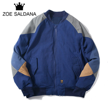 Zoe Saldana Brand 2017 New Winter Thickening Coats Epaulet Men Patchwork Parkas Fashion Streetwear Warm Clothing