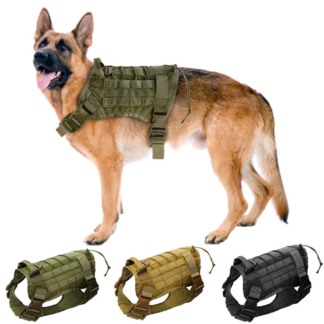 High Quality Tactical Dog Vest Harnesses Water Resistant Nylon 1000D