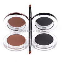 Eyeliner Powder Long Wear Eyeliner Gel Brown With Brush 12pcs 2color 24hours Waterproof Sweat Not Blooming
