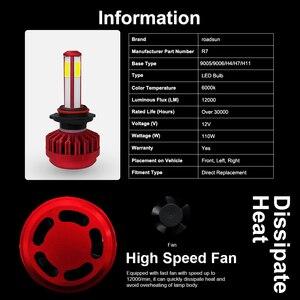 Image 5 - Roadsun 4 Tarafı 12000LM H7 H4 Araba kafa lambası ampulleri H11 HB4 Led HB3 9005 9006 12V 24V 110W 6000K oto lambaları Ampul Sis Lambası